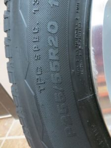 09-SATURN-OUTLOOK-TRAVERSE-ALLOY-20-WHEEL-SET-TIRE-BRIDGESTONE-2009-DUELER-HL-0-7
