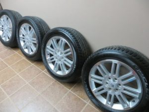 09-SATURN-OUTLOOK-TRAVERSE-ALLOY-20-WHEEL-SET-TIRE-BRIDGESTONE-2009-DUELER-HL-0-8