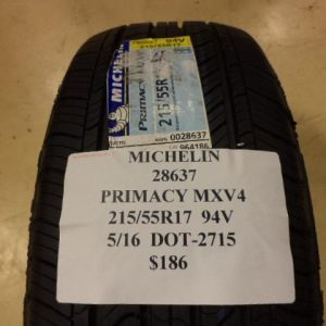 2-MICHELIN-PRIMACY-MXV4-215-55-17-94V-BRAND-NEW-PAIR-28637-0