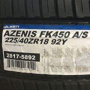 2-New-225-40-18-Falken-Azenis-FK450-AS-Tires-0-0