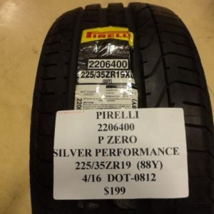 PIRELLI-P-ZERO-SILVER-PERFORMANCE-225-35-19-88Y-BRAND-NEW-TIRE-2206400-0